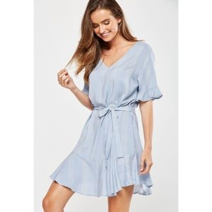 Cotton On Matina Blue and White Striped Dress